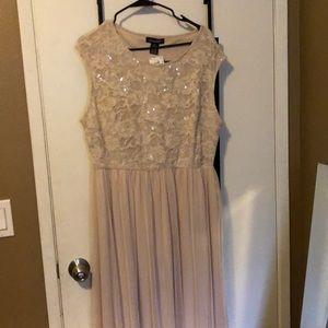 Floor length cream gown